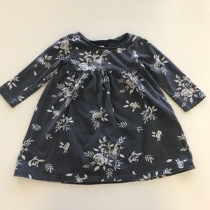Old Navy Baby Girl Gray Floral Dress size 6-12M